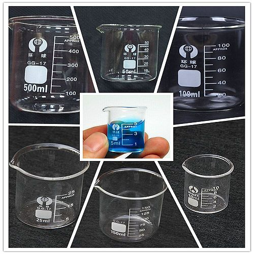 1pc 10ml-100ml Beaker Measuring Glass Beaker Lab Borosilicate Glassware Chemistry Learning stationery laboratory supplies