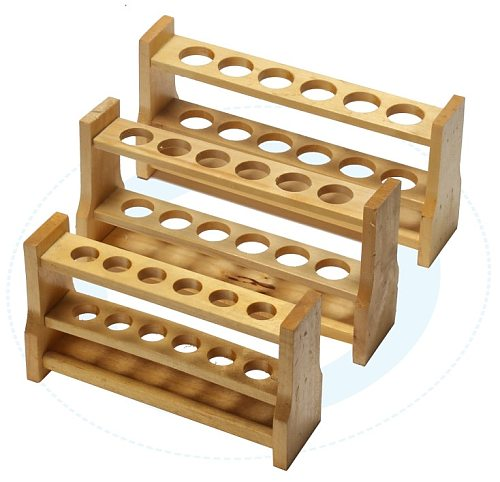 high quality Wooden test tube rack Color tube rack 6 and 12 holes 10ml 25ml 50ml 100ml free shipping