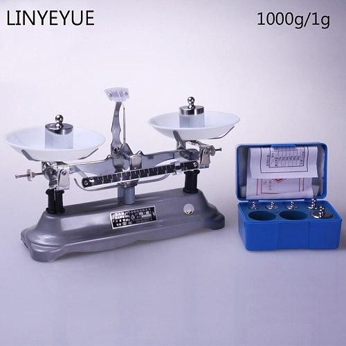 (1000g/1g) Laboratory counter balance & weight sets Lab Balance Mechanical Scale Free Shipping