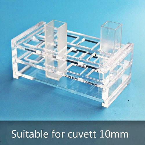Plexiglass Cuvette Stand Suitable For Glass Quartz Cuvette (liquid sample cell) Light Path 10mm,Absorption CellsSupport 8 Holes