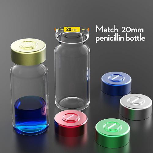 50pcs 20mm Aluminium Sealing Cap Many Colored Pharmaceutical Caps,Aluminium Tops for crimp glass vial,Aluminium Sealing