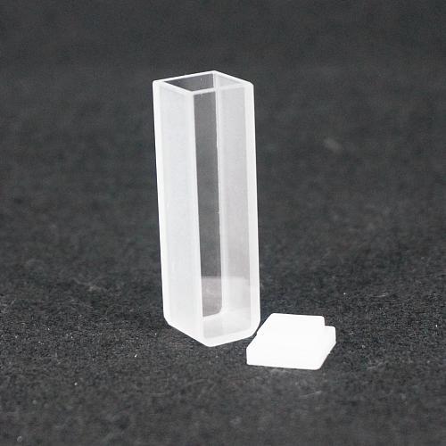 2Pcs 10mm Path Length JGS1 Quartz Cuvette Cell With Lid For Spectrophotometers