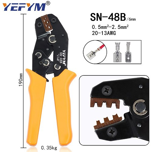 SN-48B crimping plier 0.5-1.5mm2 20-15AWG SN-28B/48B/2 Dupont XH2.54 KF2510 SM 2.54 3.96 TAB 2.8/4.8/6.3 Plug type terminal