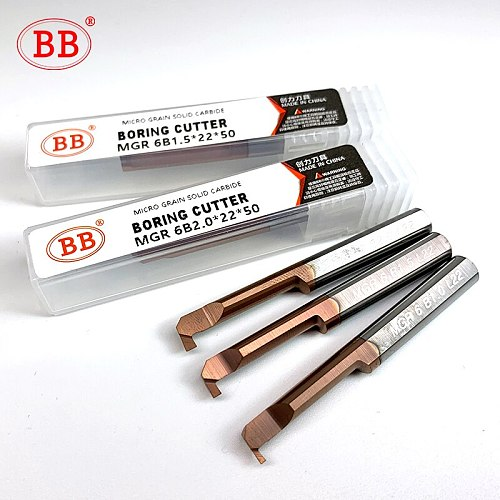 BB MGR MIR MFR Boring Cutter for Grooving Threading Coated Carbide Mini Internal Lathe Turing Tool