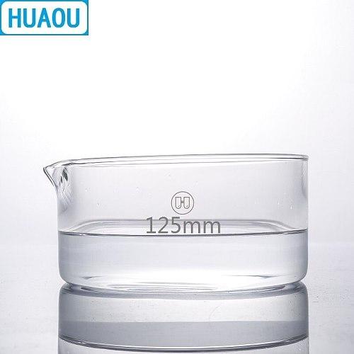 HUAOU 125mm Crystallizing Dish Borosilicate 3.3 Glass Laboratory Chemistry Equipment