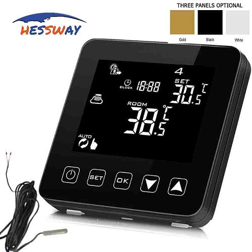 HESSWAY 16A Double sensor electric heating thermostat for infrared wire, warm floor