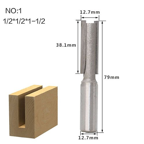 1 pc 1/2 1/4 Shank Extra long 3  Blade 1/2  Cutting Dia. Straight Router Bit Woodworking cutter Tenon Cutter for Woodworking