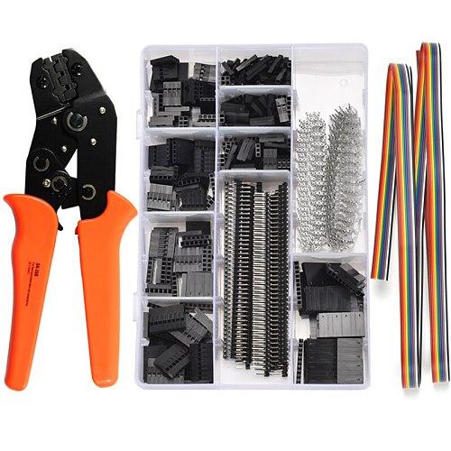 SN-28B+1550Pcs Dupont Connector crimping tool mini crimp pliers terminal ferrule crimper wire hand tool set terminals clamp kit