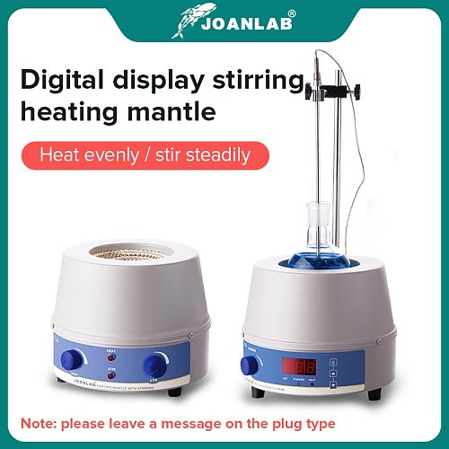 JOANLAB Official Store 1000ml Digital Electric Heating Mantle Magnetic Stirrer Lab Equipment With Thermal Regulator 110v To 220v