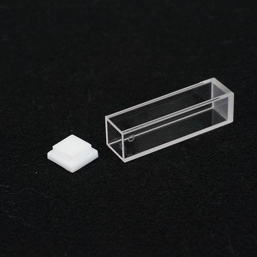 3.5ml 10mm Path JGS1 Quartz Cuvette Cell With Lid For Fluorescence Spectrometer