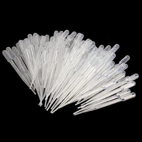 SOSW-100PCS Graduated Pipettes Dropper Polyethylene (3ml)