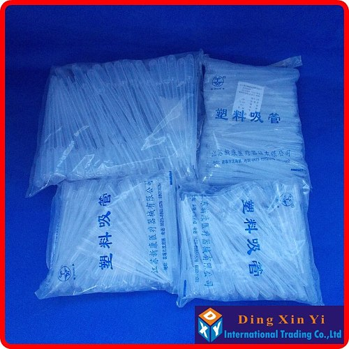 (100pieces/lot) Plastic Disposable 3ML Transfer Pasteur Pipettes Pipet Dropper 3ml Graduated Pipettes