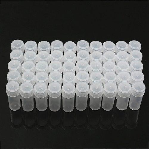 50pcs 5g Transparent Volume Plastic Sample Bottle 5ML Small Bottle Vial Home Kitchen Storage Container Lab Sample Collection