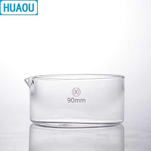 HUAOU 90mm Crystallizing Dish Borosilicate 3.3 Glass Laboratory Chemistry Equipment