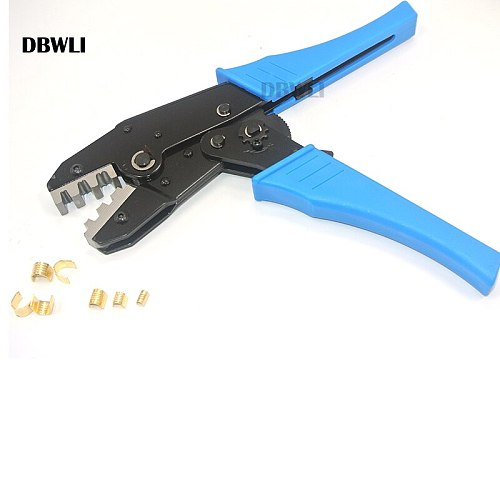 Terminal Crimping Plier Tools for Crimp 20-10AWG 0.5-6mm2 454A/454B/454C U-type Shaped Copper Wire Buckle Terminals set kit