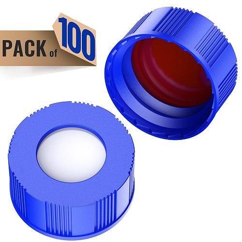 Autosampler 2ml HPLC 9-425 Vial  Bottles 9mm ABS Screw Caps, 100Pcs by Ks-Tek