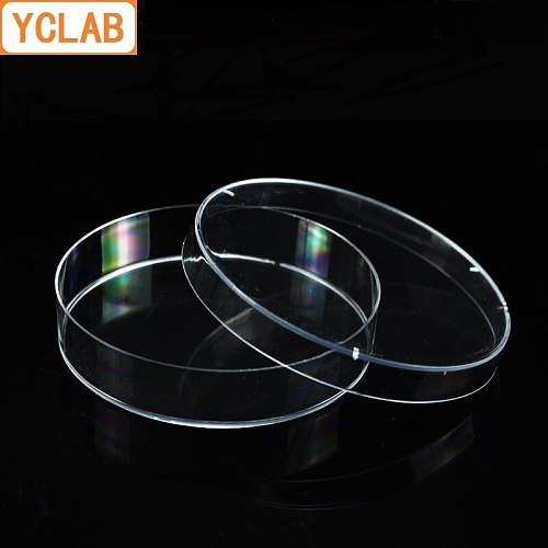 YCLAB 10PCS 70mm Petri Bacterial Culture Dish PS Plastic Disposable Sterile Polystyrene Laboratory Chemistry Equipment