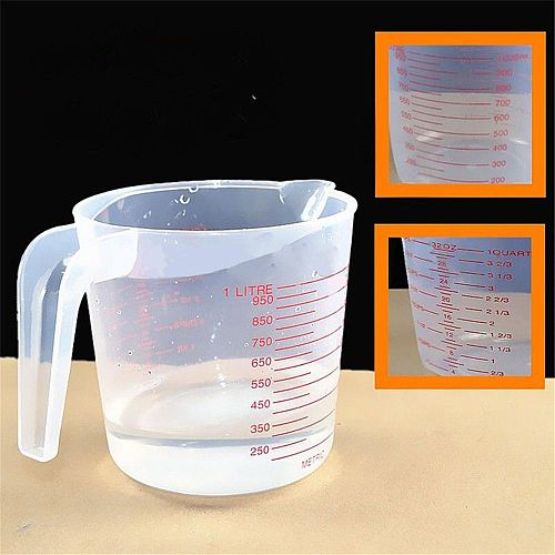 1L Plastic Measuring Jug Cup Graduated Surface Cooking Bakery Container Learning stationery laboratory supplies