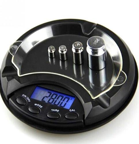 Mini Digital Scale LCD Display Digital Scales Ashtray Pocket Jewelry Herbs Weighing Electronic Measure With Movable Upper Cover