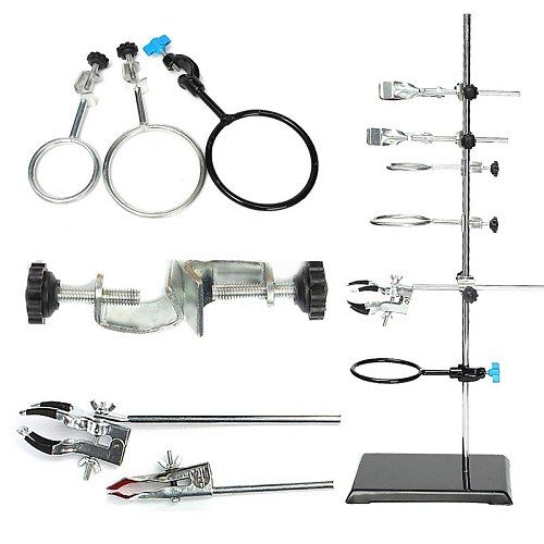 1 SET Laboratory Stands Support and Laboratory Clamp Lab Clips Flask Clamp Condenser Clamp Stands 600mm School Laboratory Supply