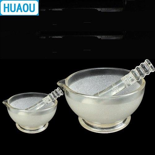 HUAOU 60mm Glass Mortar with Pestle Laboratory Chemistry Equipment
