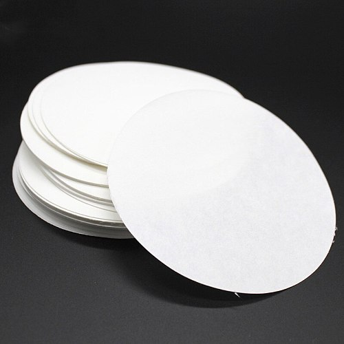 100PCS/bag 7cm Laboratory Filter Paper Circular Qualitative Filter Paper Medium Speed Funnel Filter Paper