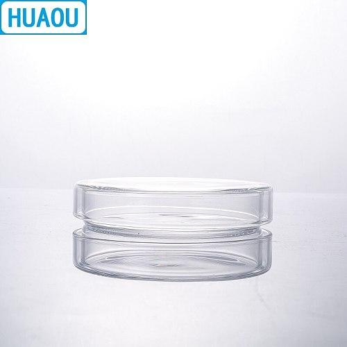 HUAOU 90mm Petri Bacterial Culture Dish Borosilicate 3.3 Glass Laboratory Chemistry Equipment