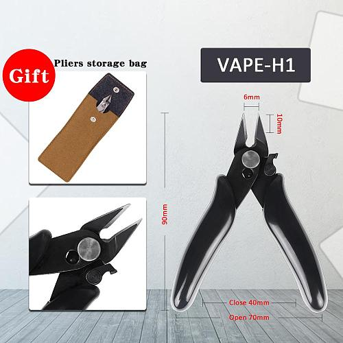 vape-h1 Mini Cutting Side Wire Cable Cutters Snips Flush Pliers With Lock Nipper Hand Tools Heating Wires Durable Hand tool