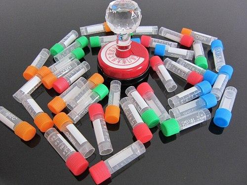 100 pcs  1.8ml  Graduated Centrifuge Tube Laboratory Freezing Tubes Centrifuge Tube for Lab Analysis With Colorful Screw Cap