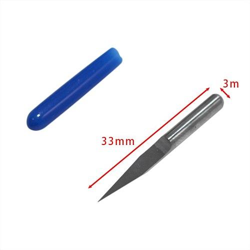 10Pcs/Set 33mm Carbide PCB Engraving Bits CNC Router Tool 15 Degree 0.3mm Wholesale Price