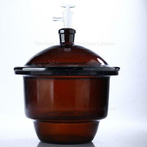 400mm,Amber Brown Glass Vacuum Desiccator Jar,40cm,W/Lid & Stopcok,Lab Glassware