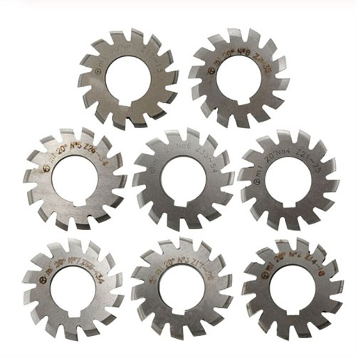 1PCS M0.5 M0.75 M1 M1.25 M1.5 M2 M2.5 M3 M4 M5-M10 Modulus PA20 degrees NO.1-NO.8 HSS Gear Milling cutter Gear cutting tools