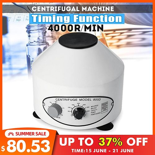 Professional 4000rpm Laboratory Electric Centrifuge Medical Practice Machine Lower-speed Desktop Centrifuge With Timer