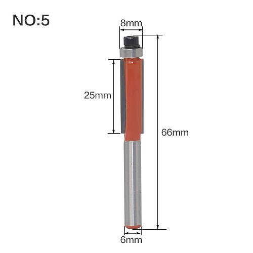 1pc 6mm Shank Cleaning Bottom Wood Router Bit Tungsten Carbide StraIght End Mills Router Bits Ror Woodworking Cheap Price