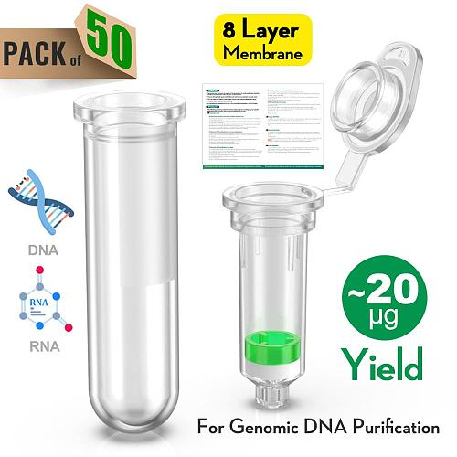 Spin Column Plasmid Extraction Kit Genome Extraction Column Nucleic Acid Purification Separation Column 2 ml 50 group by ks-Tek