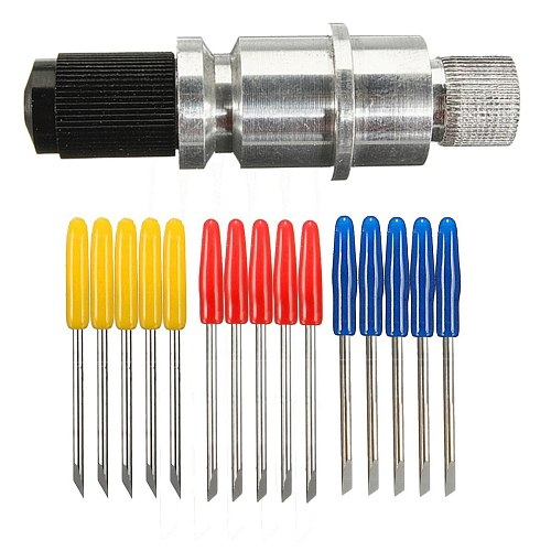 5pcs 30/45/ 60 Degree Vinyl Cutter Plotter Blades + Blade Holder For Graphtec CB09 Tungsten Steel Milling Cutter