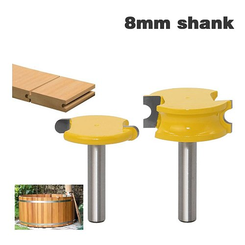 8mm Shank 2 pcs Canoe Flute and Bead Router Bit set Woodworking Cutting Tools
