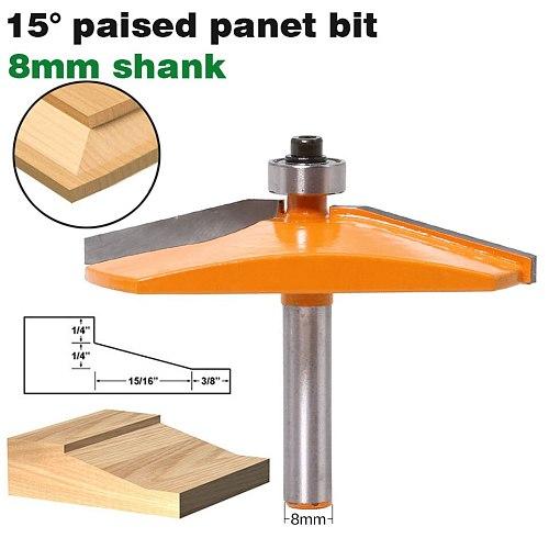 1pc 8mm Shank Ogee Door Raised Panel Router Bit Tungsten Door Knife Woodworking Tenon Cutter Tools Wholesale Price