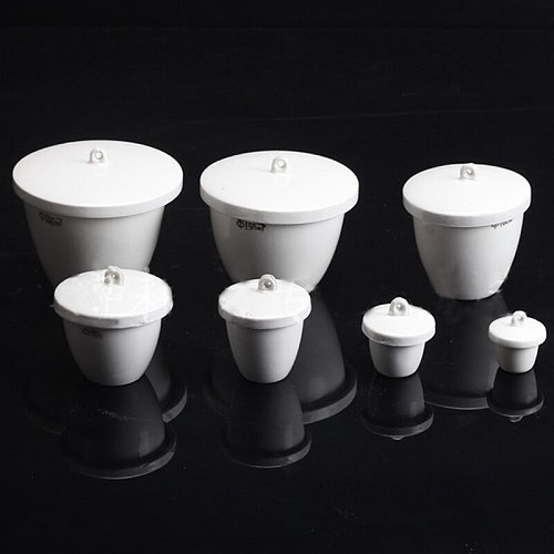 10 pieces/pack Aluminium Oxide Ceramic Crucible with Cap Laboratory Equipment Porcelain Crucible