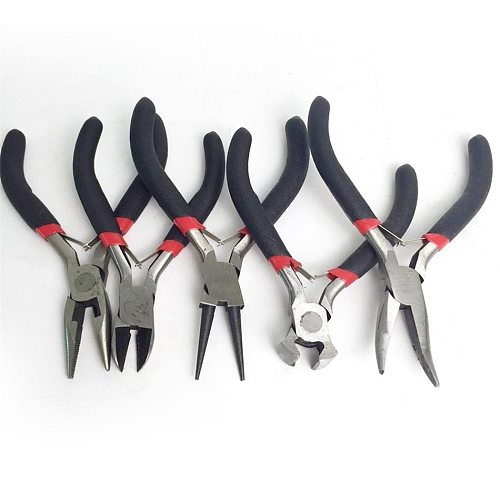 4.5inch Jewelry Pliers Tools Equipment 12cm Long Needle Nose Pliers For Jewelry Making Handmade Diagonal Side Cutting Pliers