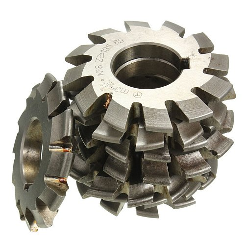 Module 3 M3 PA20 Degrees Bore 22mm #1-8 HSS Involute Gear Milling Cutter High Speed Steel Milling Cutter Gear Cutting Tools