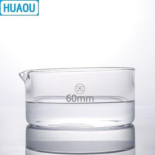 HUAOU 60mm Crystallizing Dish Borosilicate 3.3 Glass Laboratory Chemistry Equipment