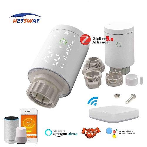 TUYA zigbee hub wireless gateway floor heating thermostat radiator for by smart phone IEEE 802.15.4 standard self-organization