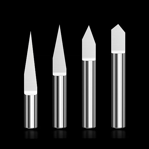 6mm Metal Flat Bottom Engraver Bits 38-50mm CNC Router Tools V Carbide Carving Cutters Degree 10° 15° 20° 30° 45° 60° 90°