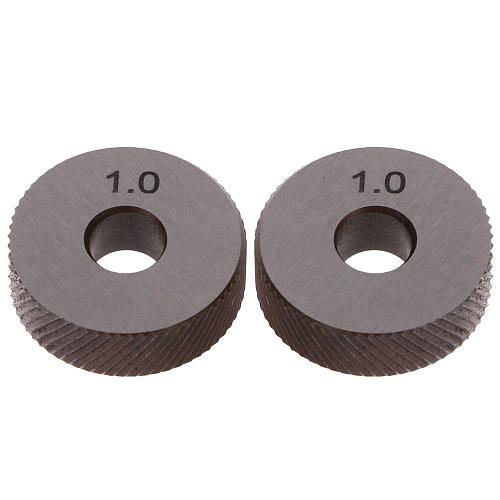 2pcs Diagonal Linear Knurl Wheels Knurling Knurler Tool 1.0/1.2/1.8/3.0mm Pitch