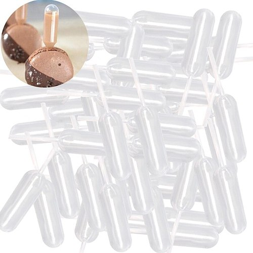 50pcs/LOT 4ml Plastic Squeeze Transfer Pipettes Dropper Disposable Pipettes For Strawberry Cupcake Ice Cream Chocolate