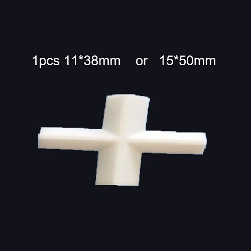 1pcs E15x50mm PTFE Magnetic Stirrer Mixer Stir Bars PTFE Cross shape Stirring Bars white Teflon Spin Bars