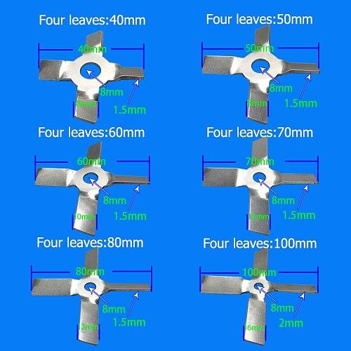 Laboratory 304 stainless steel stir bar Three-bladed paddle/four-bladed paddle stir bar Three/four blade propeller for lab mixer