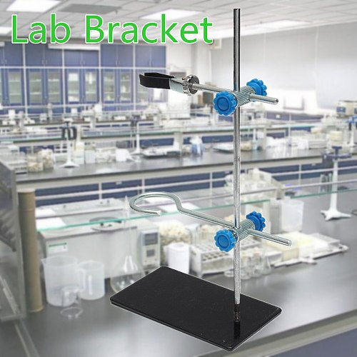 1pc 30cm High Retort StandIron Stand With Clamp Clip Lab Ring Stand Equipment 15x8.5cm School Laboratory Education Supplies