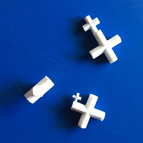 N35 magnet PTFE Magnetic Stirrer Stirrer PTFE Cross Stirrer 38/40/42 / 50mm White Teflon Rotary Rod, 3pcs